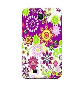 Fuson purple flower designer pattern Designer Back Case Cover for Samsung Galaxy Note 2 :: Samsung Galaxy Note Ii N7100 -P-1372