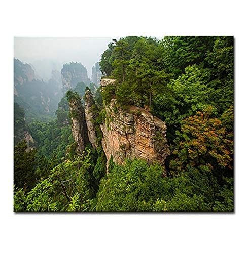 OKOUNOKO DIY Oil Painting by Numbers Kits Hand Painted Mountain Scenery Canvas Home Decoration Modern Wall Art Modular Pictures Sin Marco 40X50Cm