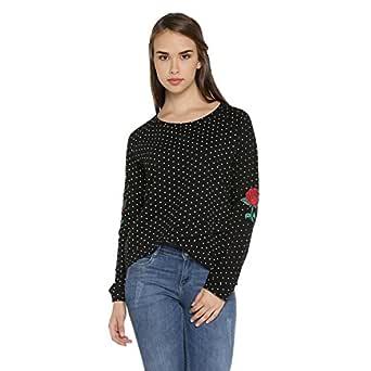 Honey by Pantaloons Women's Sweatshirt (110035536001_Black_S)