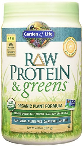 Garden of Life Organic Greens and Protein Powder - Raw Protein and Greens with Probiotics/Enzymes, (Tulip Garden Light)