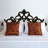 Cama Decoración barroco diseño de flores estilo cabecero de cama adhesivo decorativo para pared vinilo adhesivo para pared los tacos (Queen, azul marino)