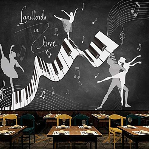 Tapete Retro Vintage Ballett Kostüm 3D Wandbild Wohnzimmer Sofa Tv Hintergrund Wand Wasserdichte Fresko Tapeten 350X256 Cm (Schwanger Kostüme Gute)