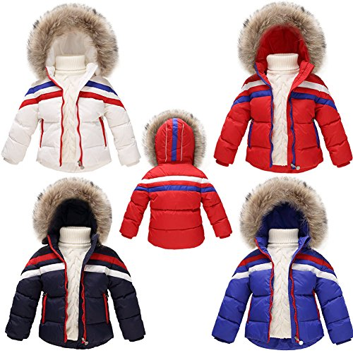 Schoenleben Kinder Jungen Mädchen Daunenjacke Daunen Mantel Steppjacke Winterjacke Skijacke