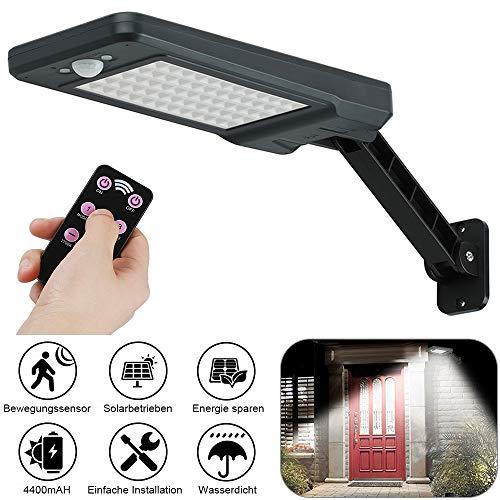 GEYUEYA Home Solar Lampe 60 LED Solar Wandleuchte, Solarlampen für außen, Solarbewegungs-Sensor-Sicherheits-Lichter IP65 wasserdicht Wand-Lichter mit drehbaren installierten Stents