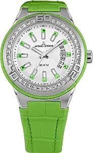 Jacques Lemans Damen-Armbanduhr XL Miami Analog Quarz Leder 1-1776I