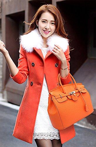 Sunas 2017 nuovo Femminile Borsa a mano Stile Casual Retro blocco rotazione Borsa messenger Moda Portafoglio arancione