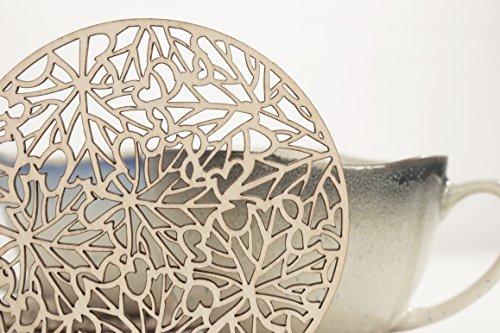 Ahorn Runde Tisch (Holz Untersetzer Set 4 Stück - Ahorn Blätter Design Matten - heiße Tassen Untersetzer - Teetassen Untersetzer - rustikales Tisch Dekor - Einweihungsfeier Geschenk)