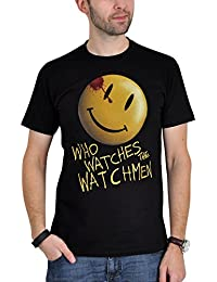 T-shirt Watchmen Smiley - Who watches - noir