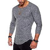 Internet Herren Tops Slim Fit Rollkragen Langarm Muscle Tee T-Shirt Lässige Oberteile Bluse