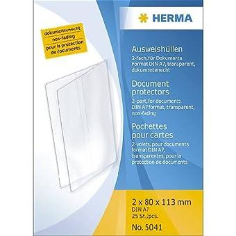 Herma-Klapp-Hülle 5041 Transparent 113X162Mm Liefermenge = 25