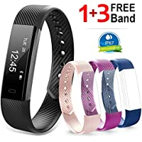 Navtour Fitness Activity Tracker Band for Woman Man kids, Health workout Tracker with Pedometer, Sleep, Notification Call and SMS For iOS / Android Smartphone With 3 Free Band