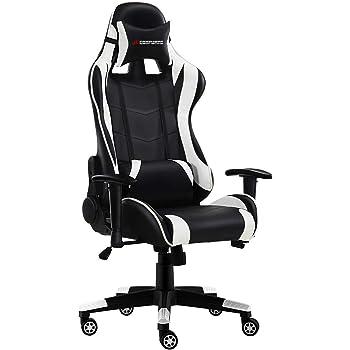 jl comfurni gaming stuhl ergonomischer drehstuhl b rostuhl mit hoher r ckenlehne. Black Bedroom Furniture Sets. Home Design Ideas