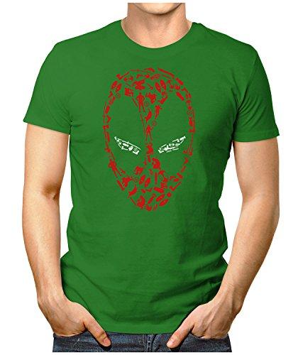 PRILANO Herren Fun T-Shirt - SPIDER-MASK - XXXL - Grün (Grünen Spider T-shirt)
