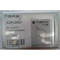 Teco - PLACCA CROMO SATINATO PER TECO K2