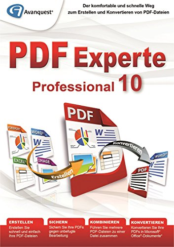 PDF Experte 10 Professional - Der komfortable und schnelle Weg zum Erstellen und Konvertieren von PDF-Dateien - Windows 10, 8, 7, Vista, XP [Download] (Für Reader-software Pc)