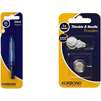Korbond Stitch Ripper and 4-Piece Thimble//Needle Threaders