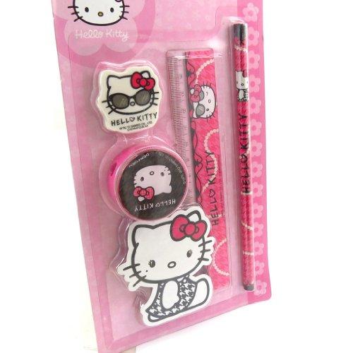 Schule set 'Hello Kitty' rosa - Hello Kitty Lineal-set
