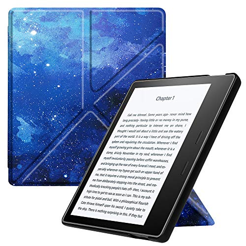 Fintie Hülle kompatibel für Kindle Oasis (10. Generation - 2019 Modell / 9. Generation - 2017 Modell) - [Origami Serie] Multi-Winkel Stand Schutzhülle mit Auto Sleep/Wake, Sternenhimmel - Oasis-serie