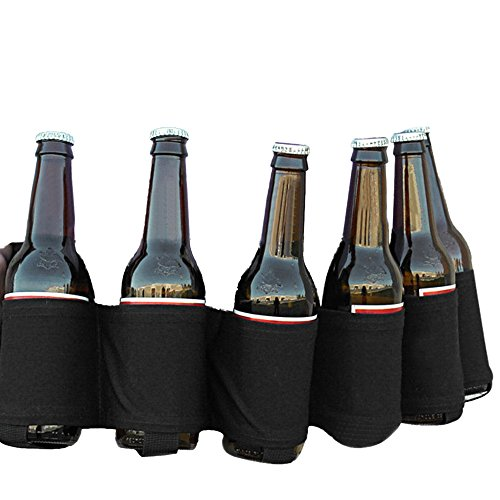 Beer Holster Loveso 6 Satz Tragbare Bier & Soda-Getränk Holster Gürtel 6 Pack Portable Beer & Soda Drink Holster Belt (One size, A) (Bier Six Pack)