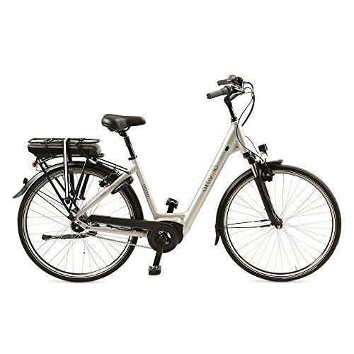 e bike mit mittelmotor und ruecktrittbremse aktivelo Alu-Elektro-Rad | 28 Zoll | Shimano Nexus 7-Gang Nabenschaltung | Akku 11 Ah mit 5 Motorunterstützungsstufen | wartungsfreier Mittelmotor | LCD-Display & Alumiuniumrahmen, Silber
