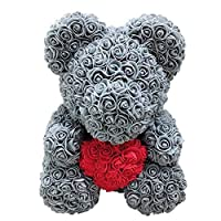 Webri Girlfriend - Forever Rose Flower Teddy Bear Doll, Preserved Rose Forever Flower Eternal Flower Creative Gift for Valentine