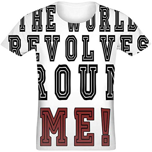 Die Welt dreht Sich um Mich! - The World Revolves Around Me! Sublimated T-Shirt Jersey Top for Men & Women All Over Print Unisex Clothing Large