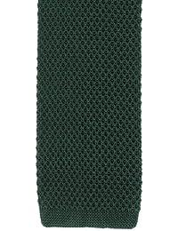 Cravate en soie vert maigre tricoté de Michelsons of London
