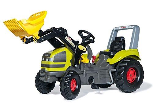 Rolly Toys Trettraktor Traktor X-Trac CLAAS mit Schaltung + Bremse Frontlader
