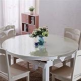 Tischdecke pvc folie transparent Tischfolie Schutzfolie abwaschbar, Kratzfest, wasserdicht rund (70cm Durchmesser, Transparent)