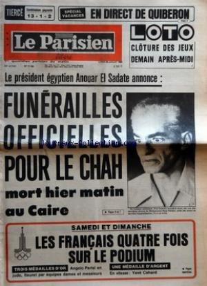 PARISIEN LIBERE (LE) [No 11150] du 28/07/1980 - SPECIAL VACANCES