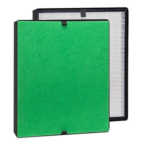 alfdaTrueHEPA Filter-Komplett-Set / Feinstaubfilter und TrueHEPA-Filter bestens geeignet für Allergiker (für alfda Luftreiniger ALR300 Comfort) (Luftreiniger Filter Grüne)