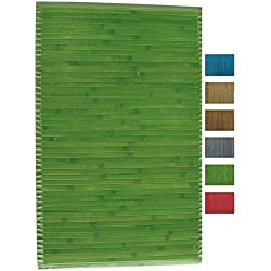 MSV 140525 - Alfombra, Bambú, Verde, 80 x 50 x 0,1 cm