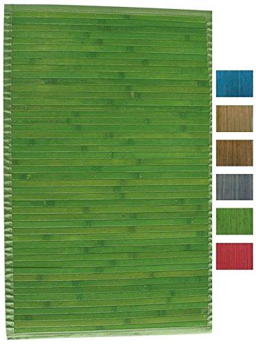 MSV Badematte Badvorleger Bambus 50x80 Grün