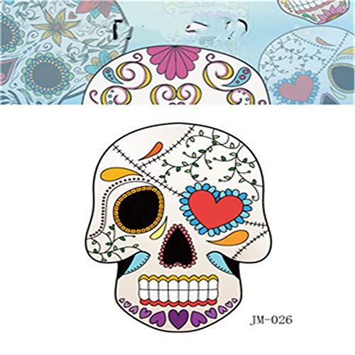 adgkitb Umweltfreundliche wasserdichte Party Halloween Tattoo Aufkleber Shantou lustiges Kind Erwachsenen Horror Gesicht Aufkleber 23 6x8.5cm (Lustige Gesichter Halloween Jack)