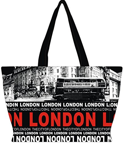 Robin Ruth – Sac Londres Souvenir Holly Sac Bus Noir/Rouge
