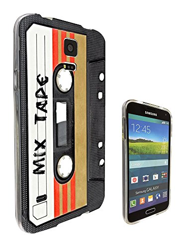 1082 - Cool Fun Mix Tape Cassette Player Retro Music Dance Hip Hop RnB Boom Box Design Samsung Galaxy S5 Mini Fashion Trend Silikon Hülle Schutzhülle Schutzcase Gel Rubber Silicone - Box Case Andere S5