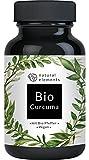 Bio Curcuma (Kurkuma) - Laborgeprüft - 4200 mg pro Tagesdosis - 180 vegane Kapseln mit Curcumin und Piperin aus Bio schwarzem Pfeffer – Ohne unerwünschte Zusätze – Hochdosiert, vegan und hergestellt in Deutschland