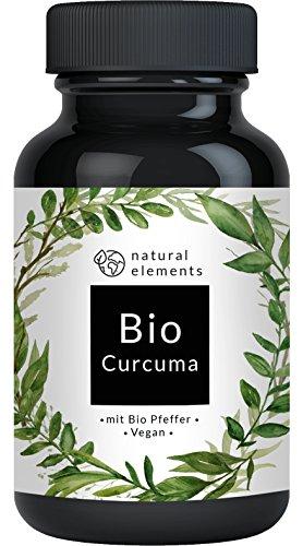 Bio Curcuma (Kurkuma) - 4440 mg Bio Curcuma + Bio Pfeffer pro Tagesdosis - Laborgeprüft. 180 Kapseln mit Curcumin und Piperin aus Bio schwarzem Pfeffer – Ohne unerwünschte Zusätze - Vegan, hochdosiert und hergestellt in Deutschland