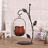 Homeng Romance Hochzeitsgeschenke Café Home Dekoration Möbel Tischdeko Abendessen Retro Eule Kerzenhalter Eisen Teelichthalter Haus Ornament