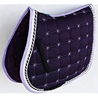 Professional Equine Horse Quilted ENGLISH SADDLE PAD Trail Contoured 72Contoured