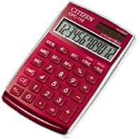 Citizen CPC112Calculadora, color rojo
