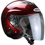 Nexo Jet-Helm Motorrad Halb-Schalen-Helm Jethelm Travel Bordeaux M