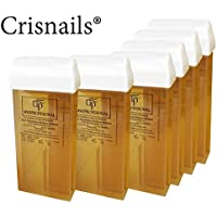 Crisnails® 6 Cartuchos Roll-Ons de Cera Depilatoria Tibia de 100ml/ud para