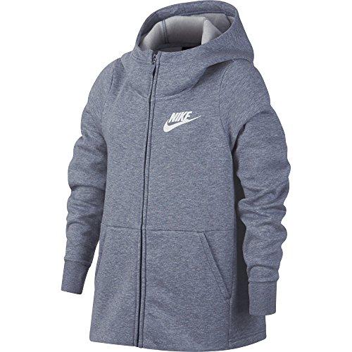 Nike Mädchen Sportswear Sweatshirt, Ashen Slate/Heather/White, XL