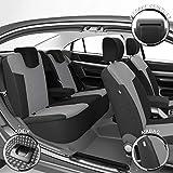 DBS 19691 Fundas de asientos de Coche - A Medida - Acabado de coche de alta gama - Instalación rápida - Compatible Airbag - Isofix