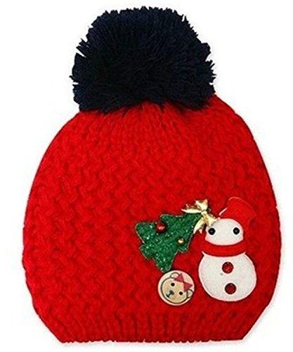 TheWin Fashion Lovely Baby Kids Girls Boys Warm Winter Snowman Knit Crochet Hat