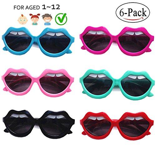 FSMILING Großhandel Neon Farben Lieferungen Lippen Zähne Neuheit Party Sonnenbrille für Kinder (6-mischen)