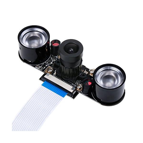 51NtLxnVLeL. SS600  - Zacro Módulo de Cámara con Sensor Cámara de Vídeo de HD Soporte Visión Nocturna para Raspberry Pi 3 Modelo B B + A + RPi 2 1 Cámara SC15