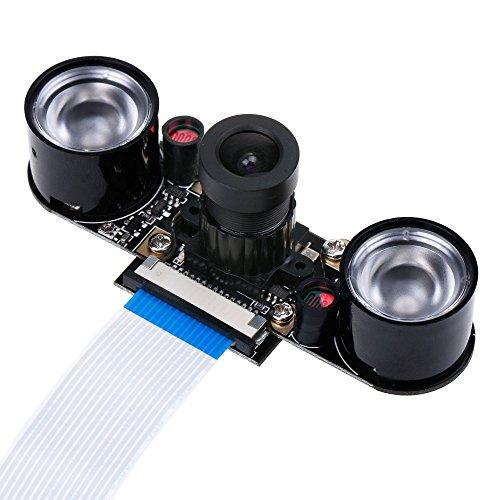 51NtLxnVLeL - Zacro Módulo de Cámara con Sensor Cámara de Vídeo de HD Soporte Visión Nocturna para Raspberry Pi 3 Modelo B B + A + RPi 2 1 Cámara SC15