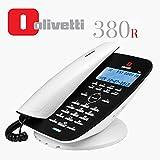 Olivetti 380R - Teléfono analógico con cable, pantalla LCD, función manos libres, contestador integrado y hasta a 10Timbres polifónicos